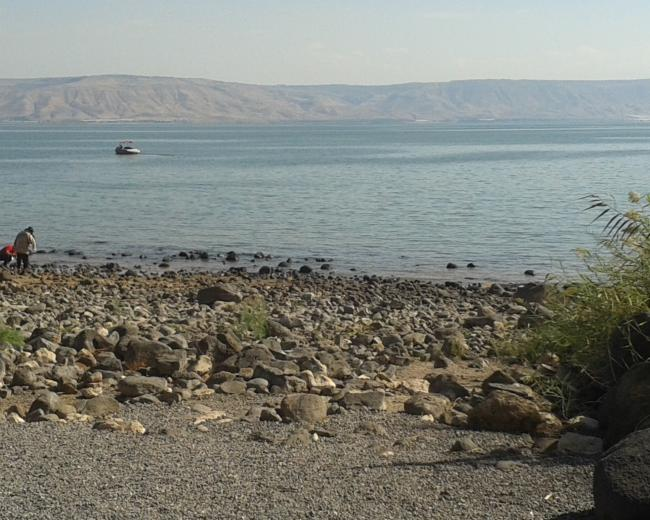 The Sea of Galilee, where Jews are once more hearing the call of Jesus.